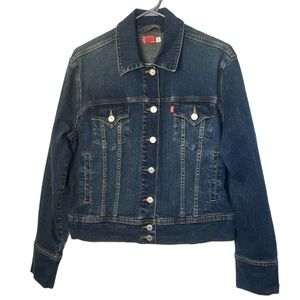 LEVI'S Medium Wash Classic Denim Jacket L